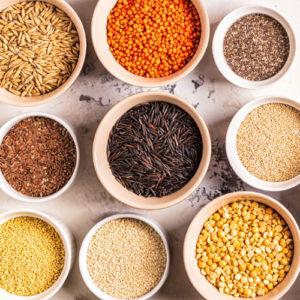 Legumi, farine e spezie